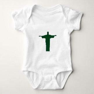 Cristo Redentor_green Baby Strampler