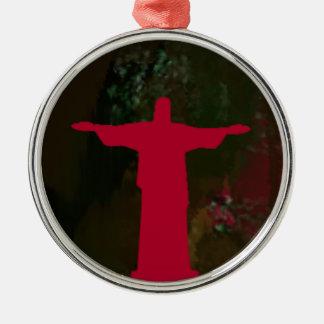 Cristo Redentor ~ Rio de Janeiro. Brasilien Silbernes Ornament