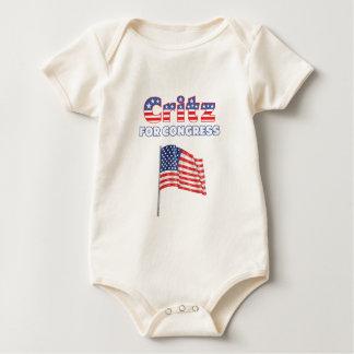 Critz für Kongress-patriotische amerikanische Baby Strampler