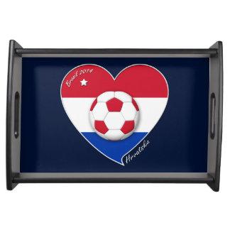 """Croatia """"HRVATSKA"""" Soccer Team Fußball Kroatien 20 Tablett"""