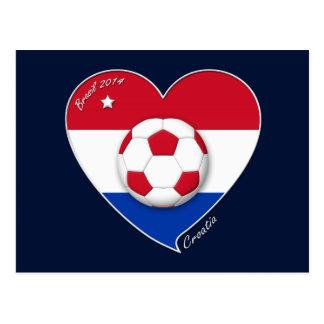 """""""CROATIA"""" Soccer Team 2014. Fußball von Kroatien Postkarten"""