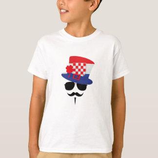 Croatian Fan with Mustache T-Shirt