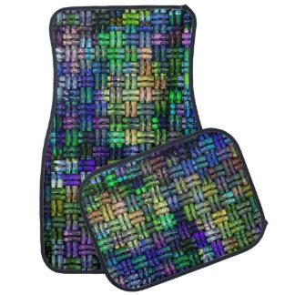 Crochet colorful pattern auto fussmatte