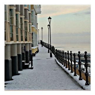 Cromer im Winter. Poster