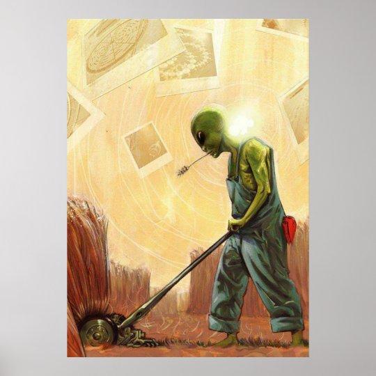 Crop Circle Maker Alien - Poster