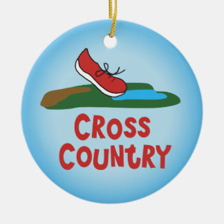 Cross Country-Betrieb - Front und Rückseite Rundes Keramik Ornament