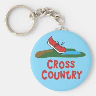 Cross Country, der Keychain laufen lässt Schlüsselanhänger