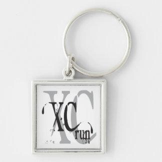 Cross Country, der XC laufen lässt Schlüsselanhänger