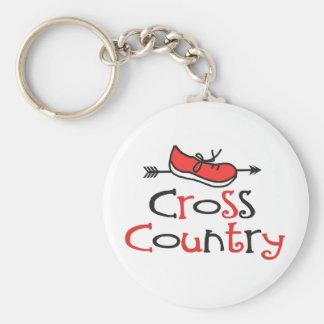 Cross Country-Läufer © Schuh Keychain Schlüsselanhänger