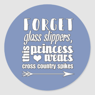 Cross Country-Prinzessin Stickers Gift
