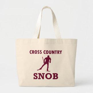 Cross Country-Ski-Snob Jumbo Stoffbeutel