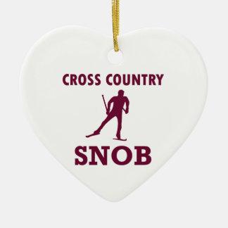 Cross Country-Ski-Snob Keramik Ornament