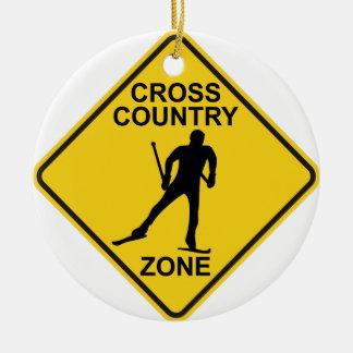 Cross Country-Ski-Zone Keramik Ornament