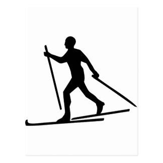Cross Country-Skifahren Postkarte