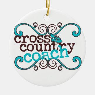 Cross Country-Trainer Keramik Ornament