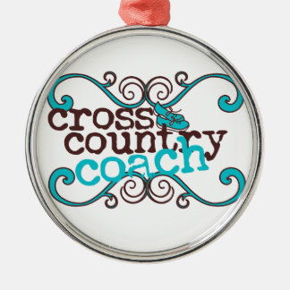 Cross Country-Trainer Silbernes Ornament