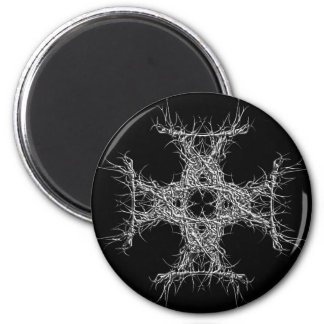 cross havy metal runder magnet 5,7 cm