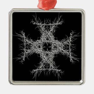 cross havy metal silbernes ornament