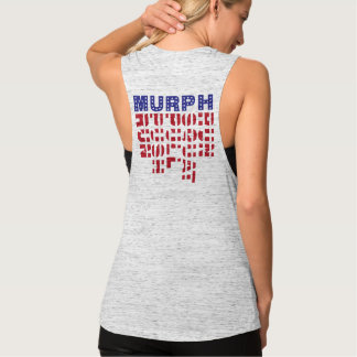CrossFit Murph Damen-Muskel-Flagge Tank Top