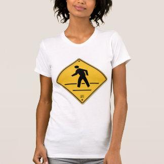 Crosswalk-Zeichen-Weg lassen nicht T-Shirt