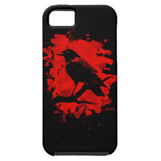 Crow bleached red iPhone 5 etui