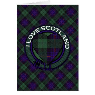 Crozierclan karierter schottischer Kilt Tartan Karte