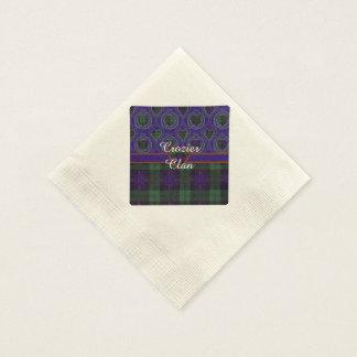 Crozierclan karierter schottischer Kilt Tartan Papierservietten