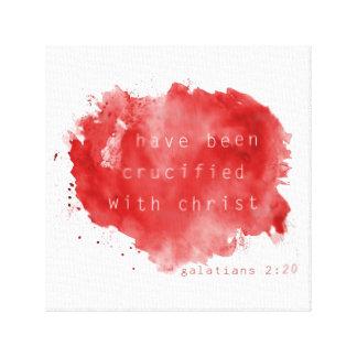 Crucified mit Christus-Leinwand-Druck Gespannter Galeriedruck