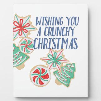 Crunchy Weihnachten Fotoplatte