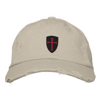 Crussader Kreuz beunruhigte Baseballmütze Bestickte Kappe