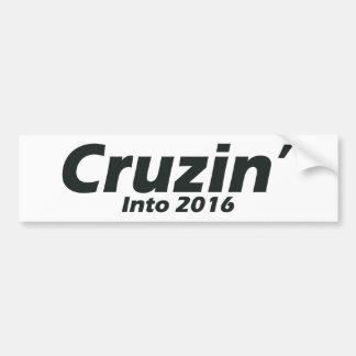 Cruzin in 2016 - Schwarzweiss Autoaufkleber