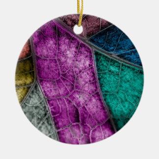 Crystalized Buntglas-Blick-Blatt-Verzierung Keramik Ornament