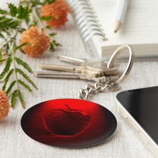 Crystalized roter Apple-Knopf Keychain Schlüsselanhänger