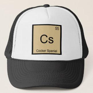 Cs - Cocker spaniel-Chemie-Element-Symbol-T-Stück Truckerkappe