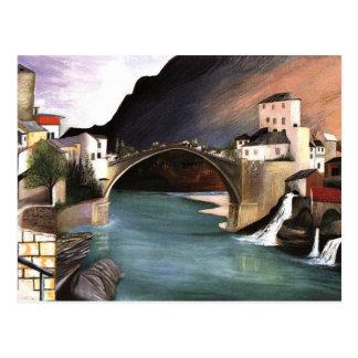 Csontvary- römische Brücke in Mostar Postkarte