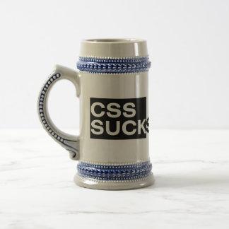 CSS ist zum Kotzen Bierglas