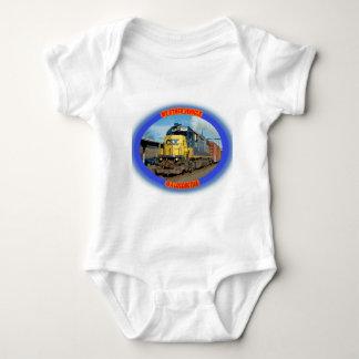 CSX-Lokomotive Baby Strampler