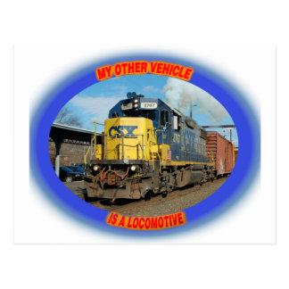 CSX-Lokomotive Postkarte