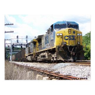 CSX Railroad AC4400CW #6 mit einem Kohlen-Zug Postkarte