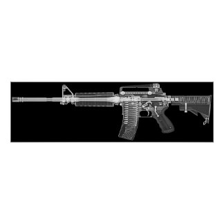 CT/X-ray Plakat vom wirklichen Gewehr AR-15! Hohes