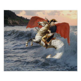 Cthulhu Bonaparte auf dem Strand Poster