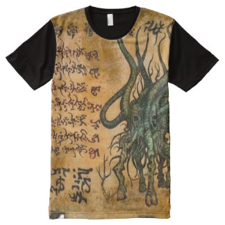 Cthulhu Dämon Magick T-Shirt Mit Komplett Bedruckbarer Vorderseite