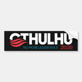 Cthulhu für Präsidenten 2020 weniger Übel Autoaufkleber