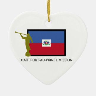 CTR DES HAITI-PORT-AU-PRINCE-AUFTRAG-LDS KERAMIK ORNAMENT