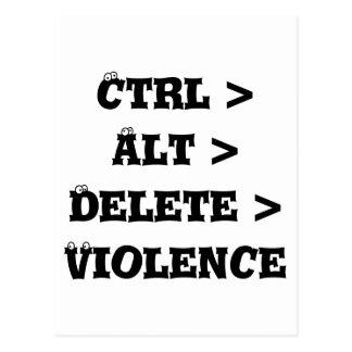 Ctrl > Alt > Löschung > Gewalt - Antityrann Postkarte