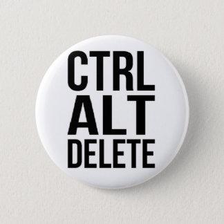 Ctrl+Alt+Löschung Runder Button 5,7 Cm