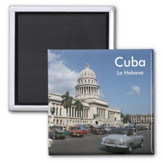 Cuba - La Habana Quadratischer Magnet