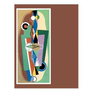 Cubist abstrakt postkarte