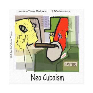 Cubist Castro lustig Leinwanddruck