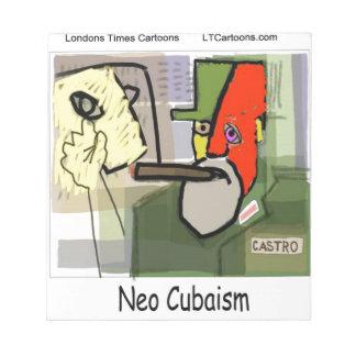 Cubist Castro NeoCubaism lustig Notizblock